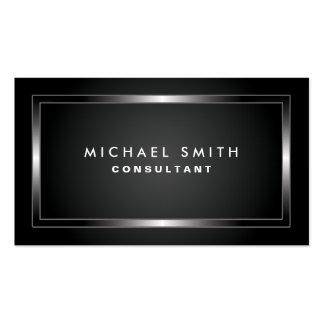Simples liso preto moderno elegante profissional cartão de visita
