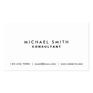 Simples moderno elegante branco liso profissional modelo de cartões de visita