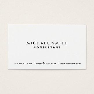 Simples moderno elegante branco liso profissional cartão de visitas
