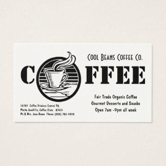 Simples preto & branco do café da cafetaria cartão de visitas