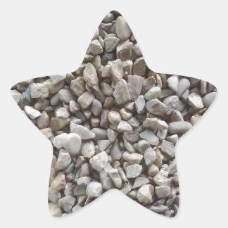 Simplesmente cascalho adesivo estrela