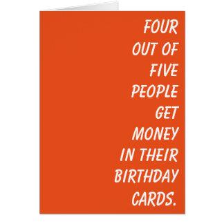 Simplesmente um cartão de aniversário com pouca