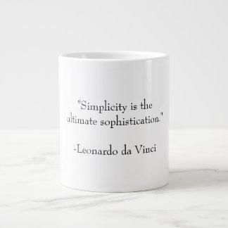 Simplicidade e sofisticação caneca de café grande