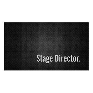 Simplicidade preta legal do diretor de palco metal cartão de visita