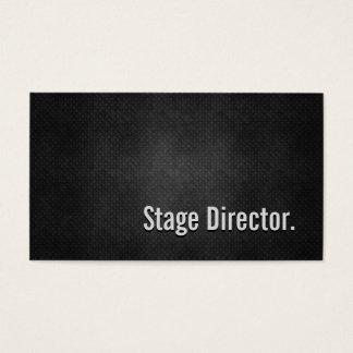 Simplicidade preta legal do diretor de palco metal cartão de visitas