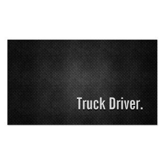 Simplicidade preta legal do metal do camionista cartão de visita