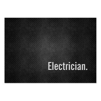 Simplicidade preta legal do metal do eletricista modelos cartão de visita