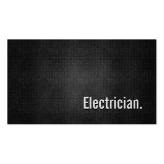 Simplicidade preta legal do metal do eletricista cartão de visita
