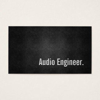 Simplicidade preta legal do metal do engenheiro cartão de visitas