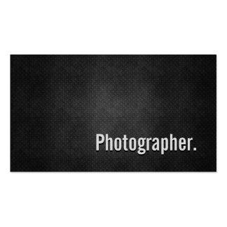 Simplicidade preta legal do metal do fotógrafo modelo cartões de visita