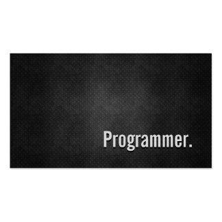 Simplicidade preta legal do metal do programador cartão de visita