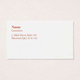 Simplicity Business Card Cartão De Visitas
