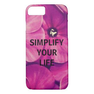 Simplifique sua vida (floral) capa iPhone 7