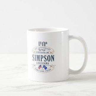 Simpson, caneca do aniversário de Louisiana 50th