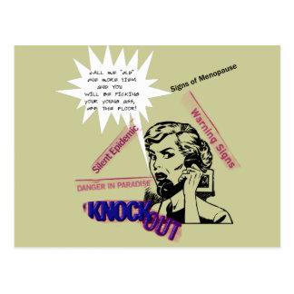Sinais da menopausa cartão postal