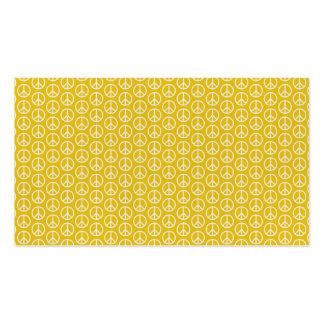 Sinais de paz no amarelo ensolarado cartão de visita