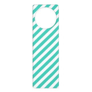 Sinais De Porta Cerceta e teste padrão diagonal branco das listras
