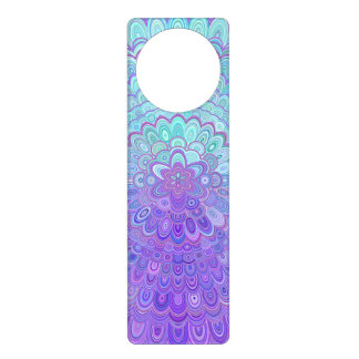 Sinais De Porta Flor da mandala na luz - azul e roxo