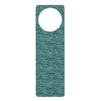Sinais De Porta Teste padrão de ondas verde e azul. Textura do mar