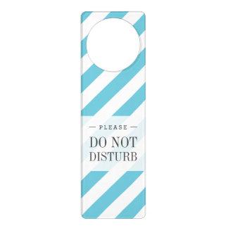 Sinais De Porta Teste padrão diagonal azul e branco das listras