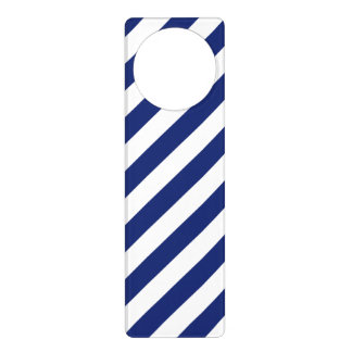 Sinais De Porta Teste padrão diagonal do azul marinho e o branco