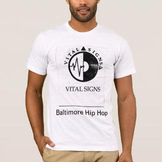 Sinais vitais - Baltimore Hip Hop Camiseta