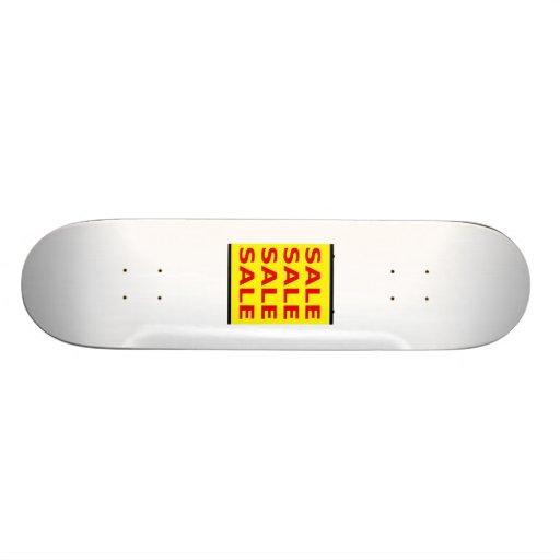 Sinal amarelo da venda skate personalizado