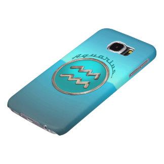 Sinal astrológico do Aquário Capas Samsung Galaxy S6