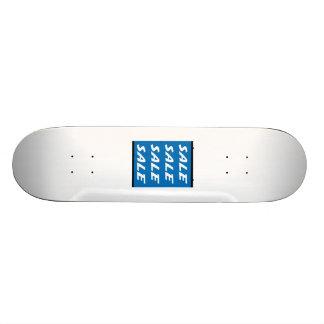 Sinal azul da venda skate