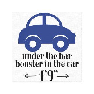 Sinal azul das canvas do carro impressão em tela