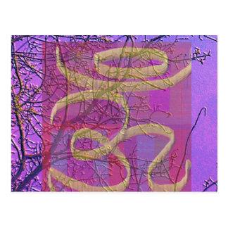 Sinal cura universal do OM - tela de seda V5 Cartão Postal