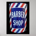 sinal da barbearia do vintage poster