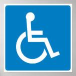 Sinal da estrada da acessibilidade da desvantagem pôsteres