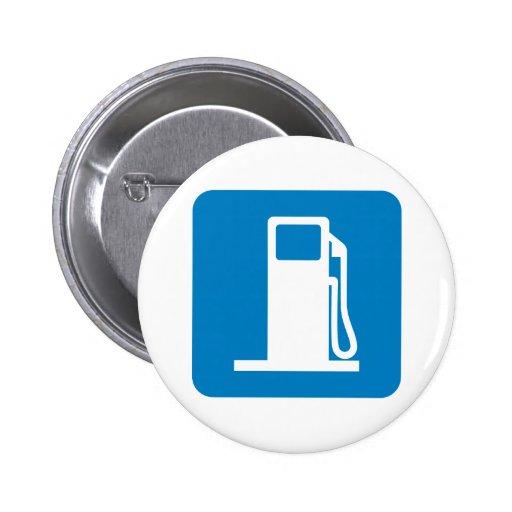Sinal da estrada do posto de gasolina pins