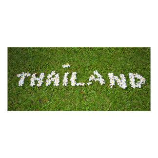 Sinal da flor de Tailândia 10.16 X 22.86cm Panfleto