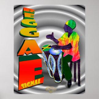 Sinal da reggae pôster