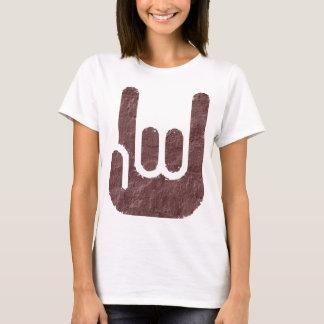 sinal da rocha camiseta