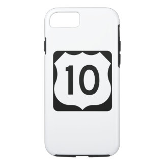 Sinal da rota 10 dos E.U. Capa iPhone 7