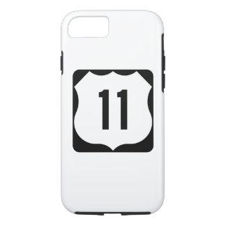 Sinal da rota 11 dos E.U. Capa iPhone 7