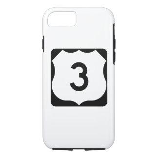 Sinal da rota 3 dos E.U. Capa iPhone 8/ 7