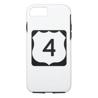 Sinal da rota 4 dos E.U. Capa iPhone 7