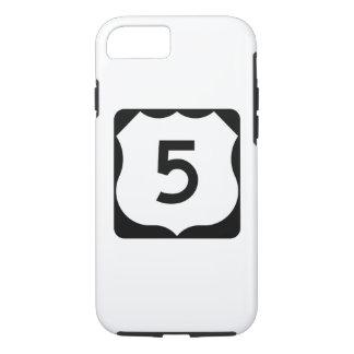 Sinal da rota 5 dos E.U. Capa iPhone 7