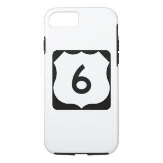 Sinal da rota 6 dos E.U. Capa iPhone 8/ 7