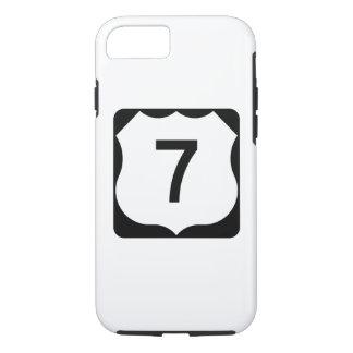 Sinal da rota 7 dos E.U. Capa iPhone 8/ 7