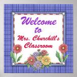 Sinal da sala de aula do professor por SRF Poster