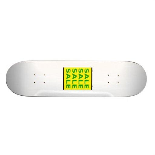 Sinal da venda skate boards