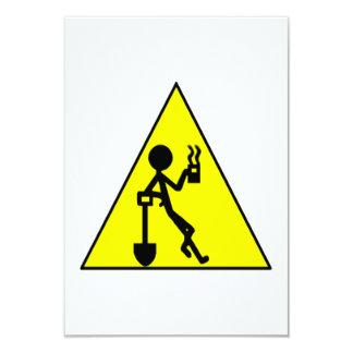 Sinal de aviso da ruptura de café convite 8.89 x 12.7cm