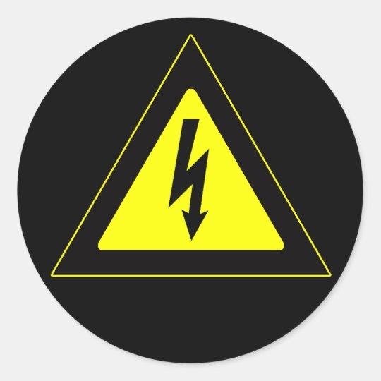 Sinal de aviso de alta tensão adesivo