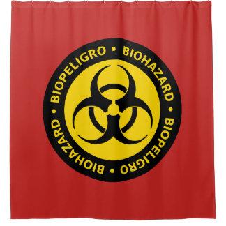 Sinal de aviso do Biohazard Cortina Para Chuveiro