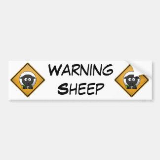Sinal de aviso dos carneiros dos desenhos animados adesivo para carro